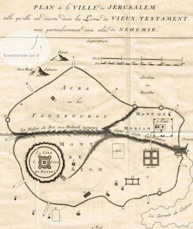 אתר ארץ ישראל, EretzIsrael.co.il, אוסף גמליאל, מפות עתיקות, מפה עתיקה, ירושלים